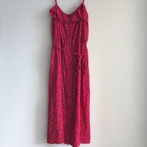 Universal Threads red floral dress large with tags